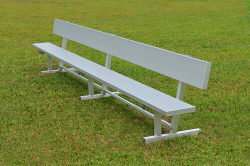 Aluminum Players Bench   Backrest 15' • Seats 10 a