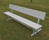 "Aluminum Players Bench   Backrest 7' 6"" • Seats 5 - Outdoor Bench"