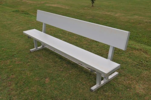 "Aluminum Players Bench | Backrest 7' 6"" • Seats 5 - Outdoor Bench"