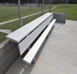 Aluminum Players Bench   Shelf 21' • Seats 14