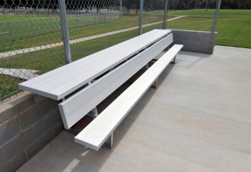 indoor outdoor sport benches - player benches with shelf