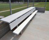 Aluminum Players Bench | Shelf 15' • Seats 10
