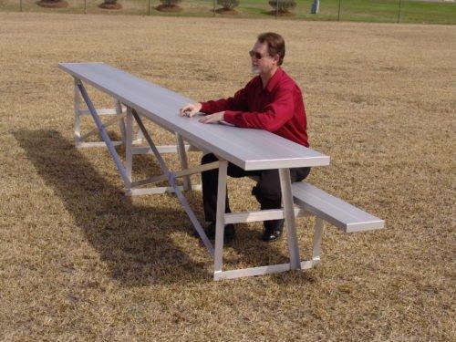 "Aluminum Scorers Table 7' 6"" • Seats 5 - Table"