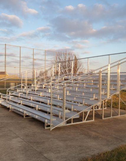 Aluminum 10 Row Transportable Bleacher • Seats 144