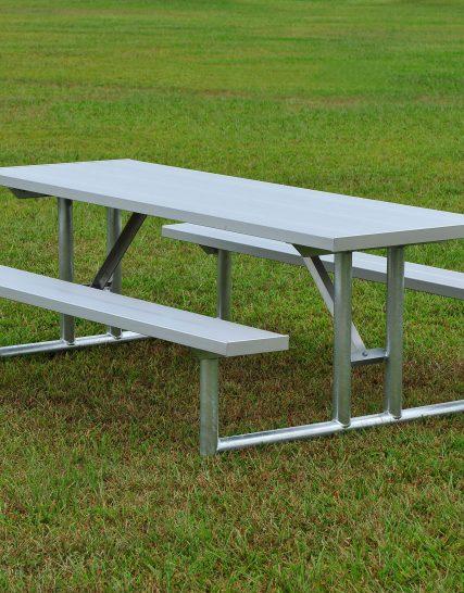 Galvanized Picnic Table 8' • Seats 10 -