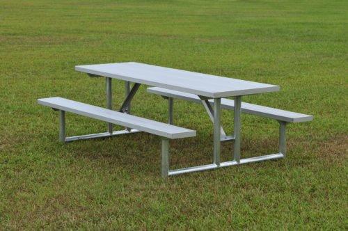 "Galvanized Picnic Table 7' 6"" • Seats 10 - Table"