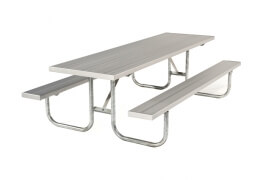 """Galvanized Picnic Table 7' 6"""" • Seats 10 a - Table"""