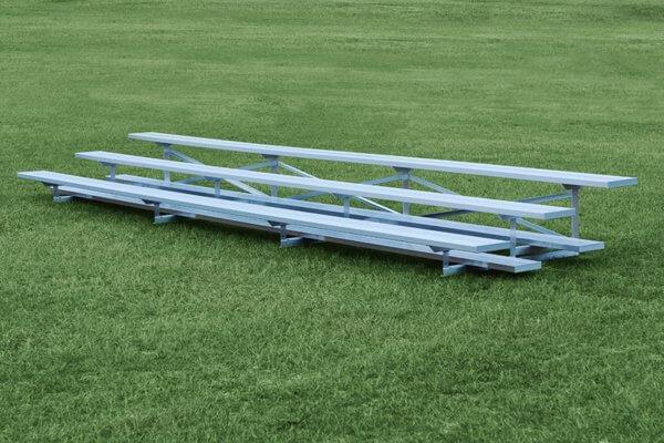 Aluminum 3 Row Bleacher • Seats 18